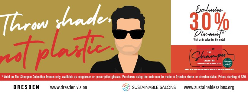 Get an exclusive saving at Zucci Hairdressing on your Shampoo collection eye wear from Dresden Vision and Sustainable Salons Australia.