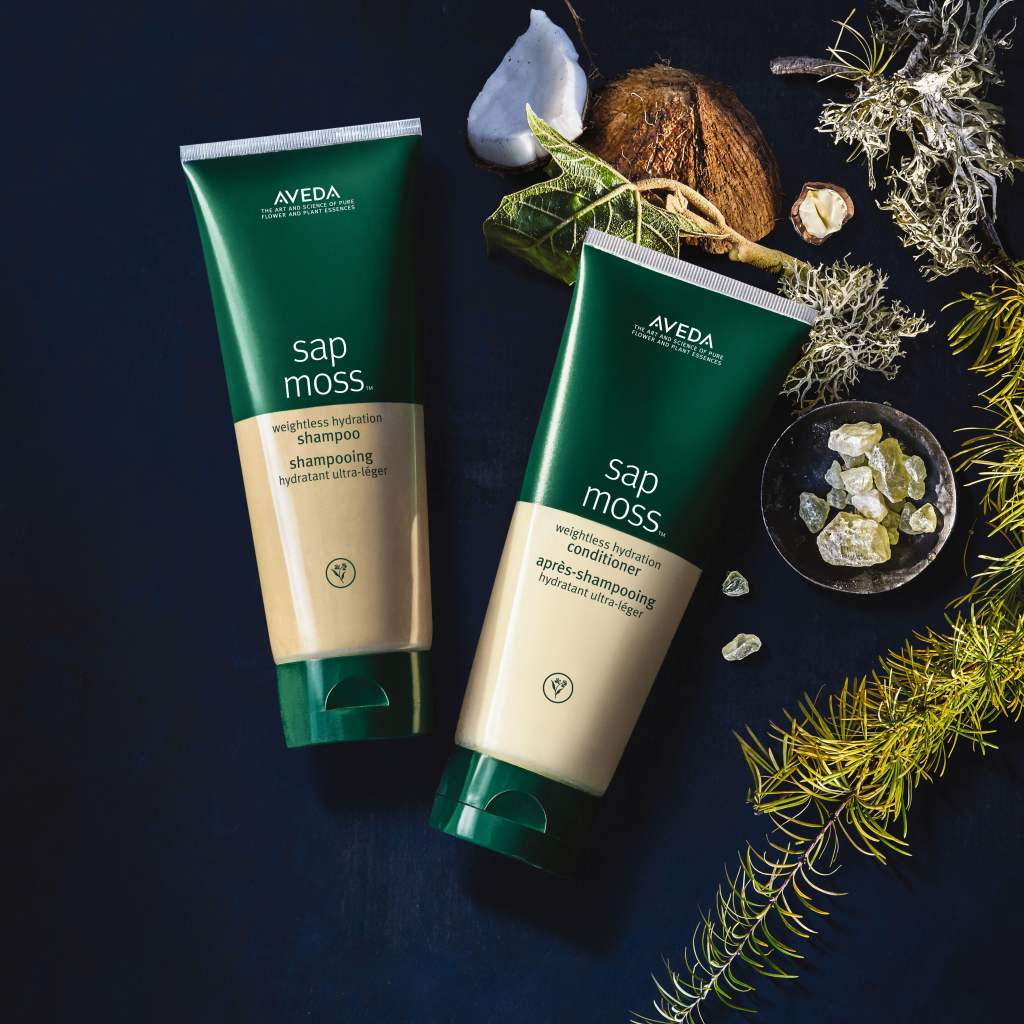 The New Vegan Sap Moss Shampoo and Conditioner from Aveda Now at Zucci Hairdressing