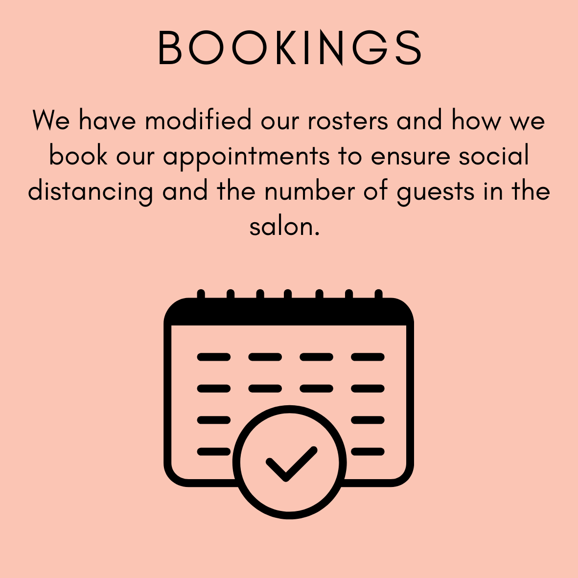 we are modifying how we book appointments at Zucci