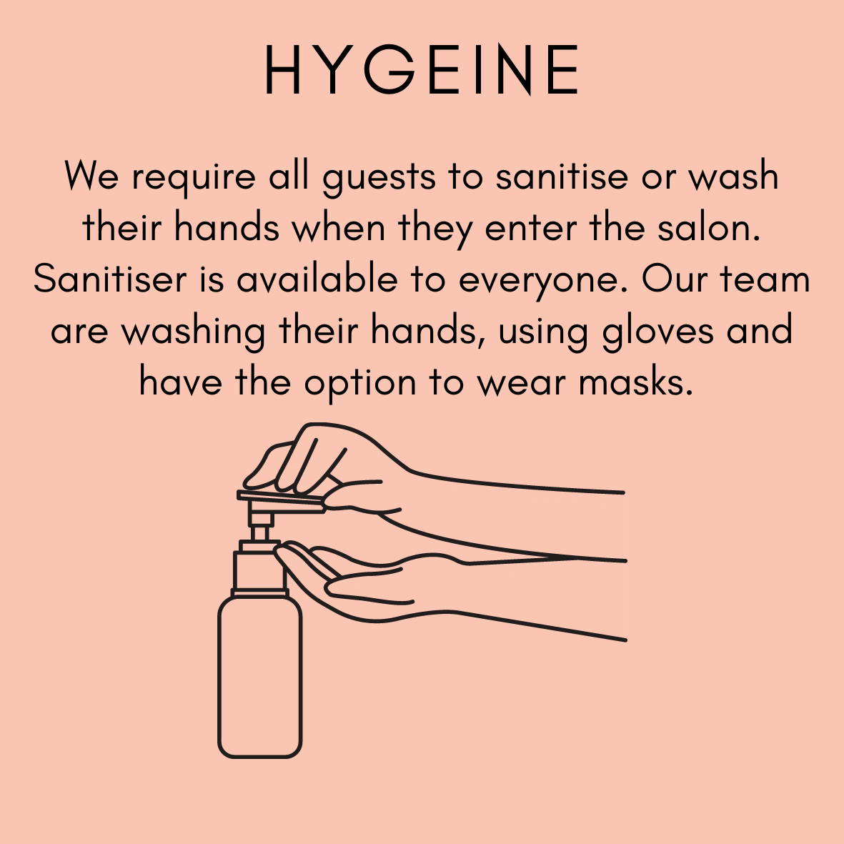 Zucci Hairdressing is committed to hand hygiene in all our salon locations