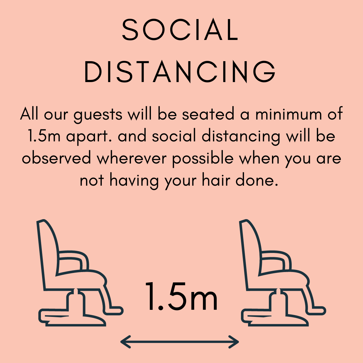 All guests are spaced a minimum of 1.5m apart at all times during their service at Zucci