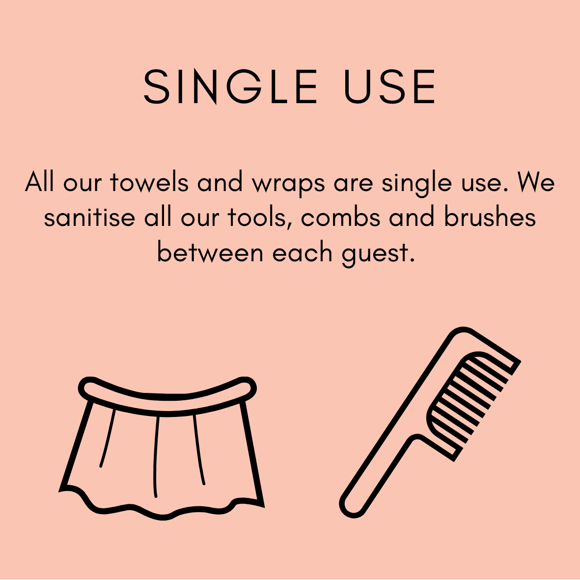All our towels and wraps are single use per guest at Zucci Hairdressing