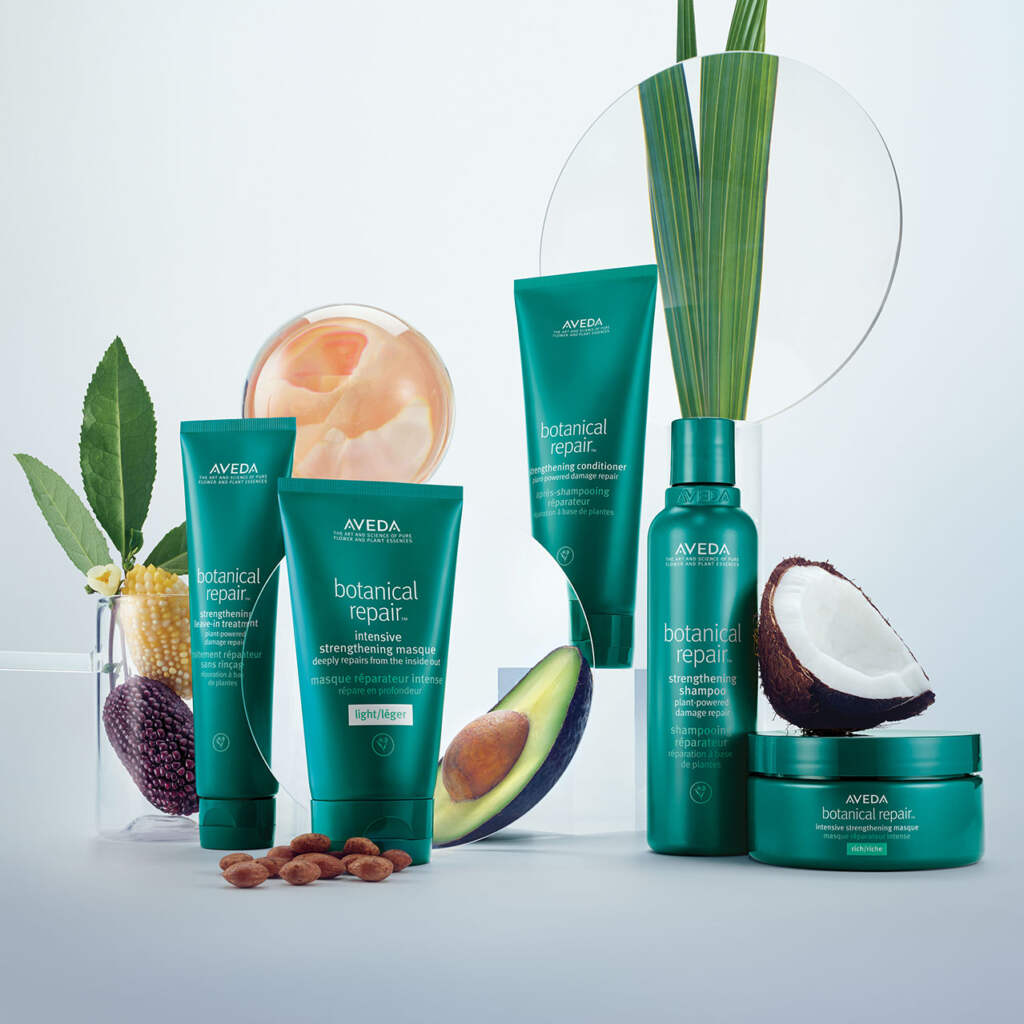 The botanical Repair Range at Zucci hairdressing