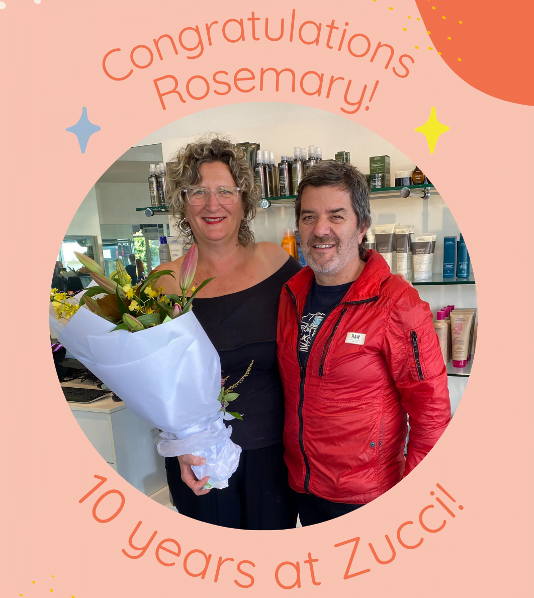 Congrats Rosemary on 10 years at Zucci